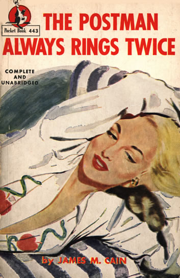 Noir Crime Fiction The Postman Always Rings Twice Pulp Cover