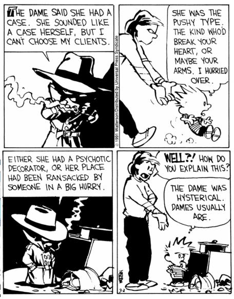 Noir Comics Calvin and Hobbes