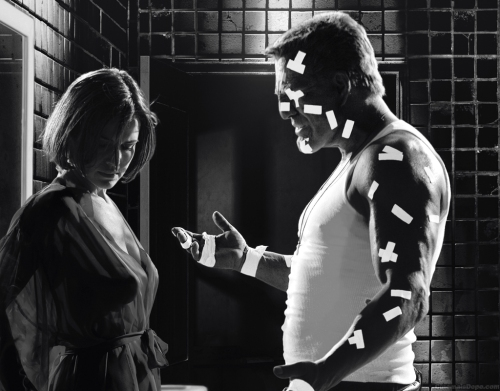 Film Noir Sin City Lucille and Marv