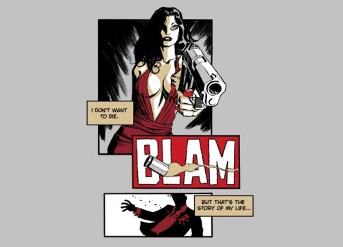 Noir Comics Noir Inspired T-Shirt Designs