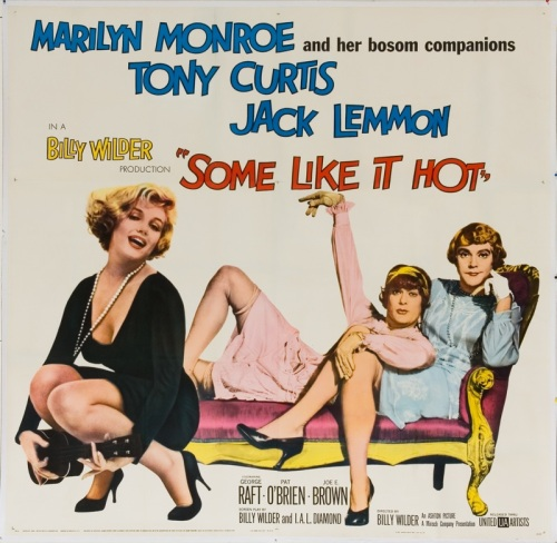 Film Noir Some Like It Hot Movie Poster