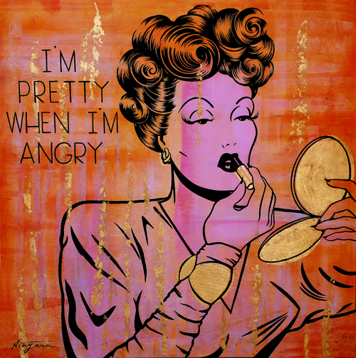 Noir Art I'm Pretty When I'm Angry Niagara Detroit