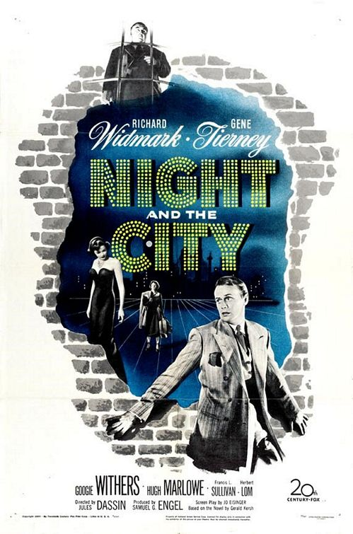 Film Noir Night and the City Movie Poster