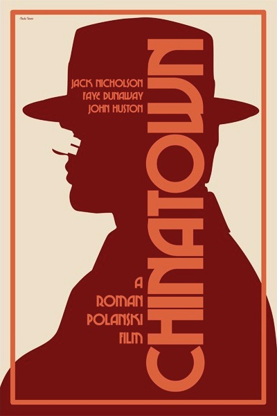 Film Noir Chinatown 1974 Claudia Varosio Movie Poster
