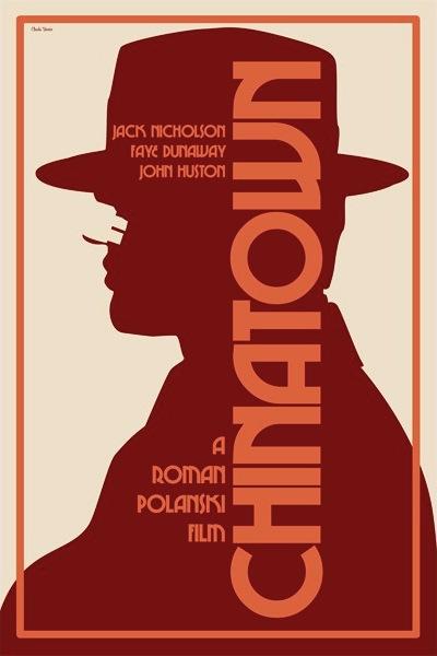 Film Noir Chinatown 1974 Claudia Varosio Movie Poster