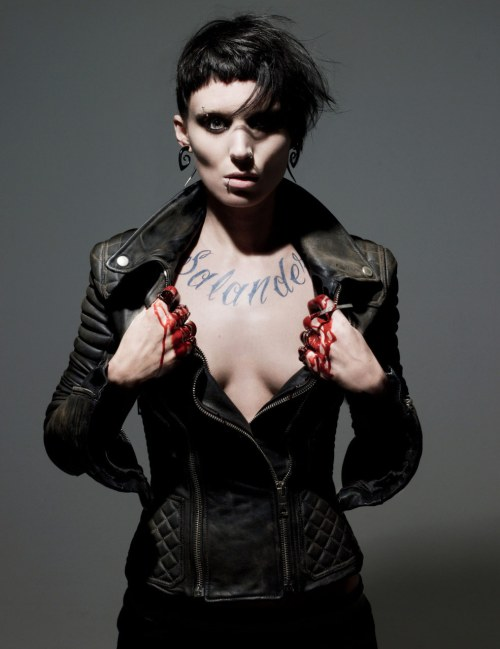 Film Noir The Girl With The Dragon Tattoo Rooney Mara Lisbeth Salander