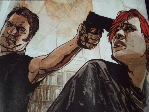 Noir Comics Scarlet by Bendis and Maleev Head Shot