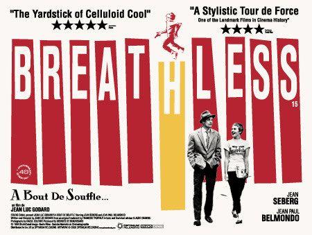 Film Noir Breathless Movie Poster