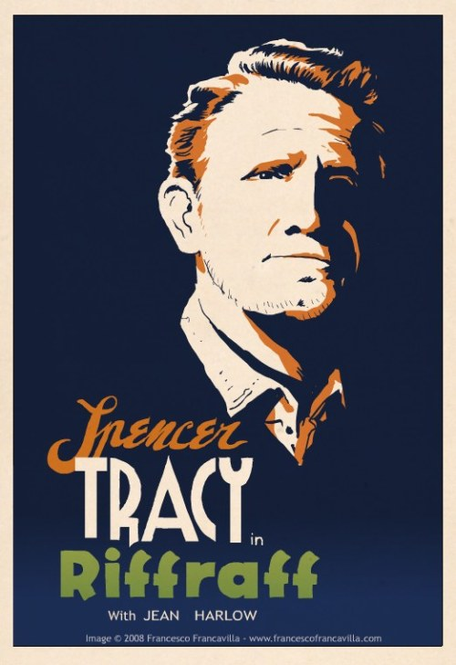 Noir Art Francesco Francavilla Spencer Tracy in Riffraff with Jean Harlow