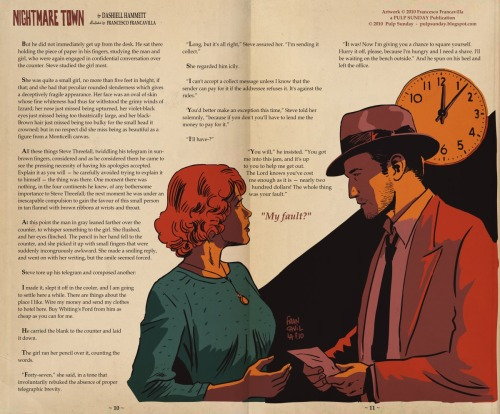 Noir Art Nightmare Town Dashiell Hammett Francesco Francavilla