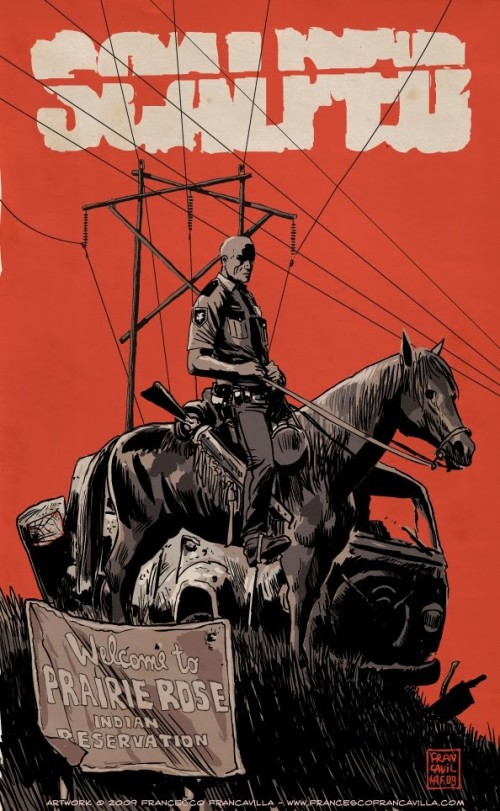 Noir Art Scalped Tribute Francesco Francavilla