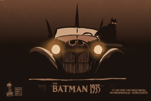 Noir Art The Batman 1935 Francesco Francavilla
