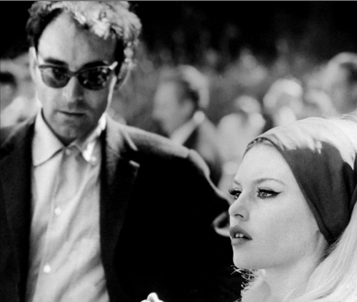 Jean-Luc Godard and Brigitte Bardot