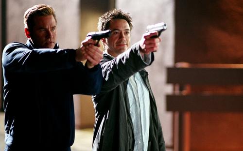 Robert Downey Jr and Val Kilmer