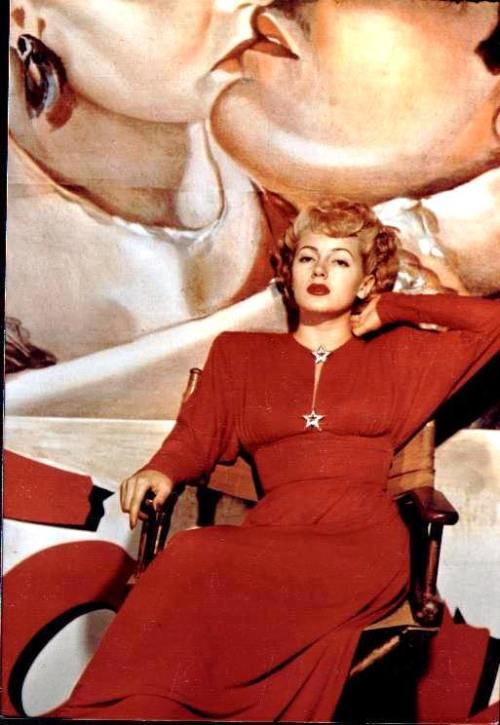 Lana Turner in Red