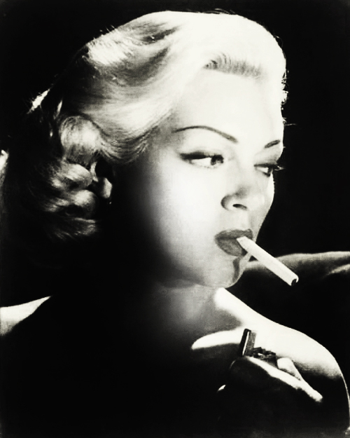 Lana Turner Smoking