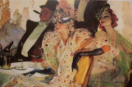 Noir Art Jean-Gabriel Domergue