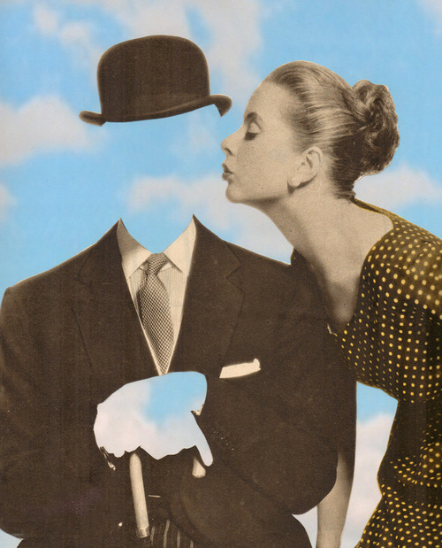 Art by Joe Webb Kissing Magritte