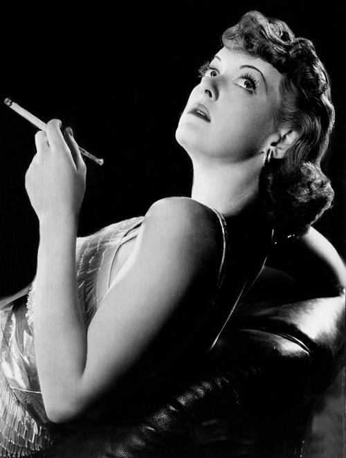 Smoking Bette Davis
