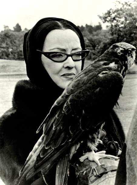 Bette Davis and Falcon