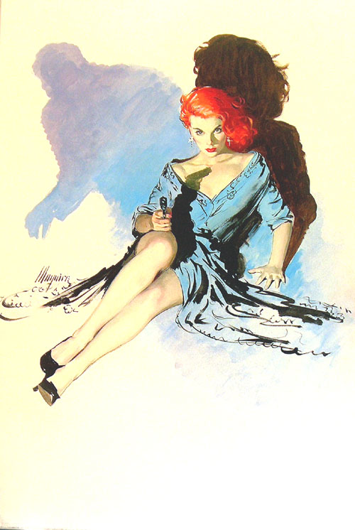 "Cover for ""Dame in Danger"" by Robert Maguire"