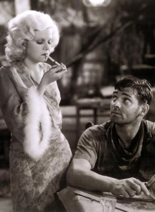 Jean Harlow Clark Gable Red Dust 1932