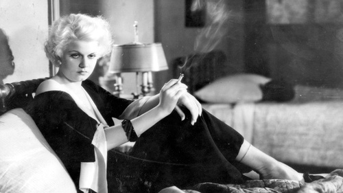 Jean Harlow Smokes