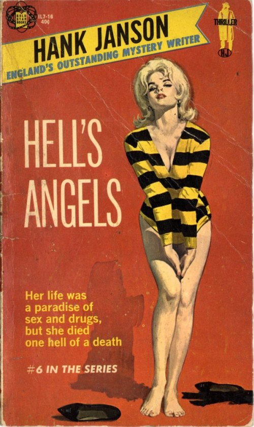 Hell's Angels by Hank Janson Cover by Robert Maguire