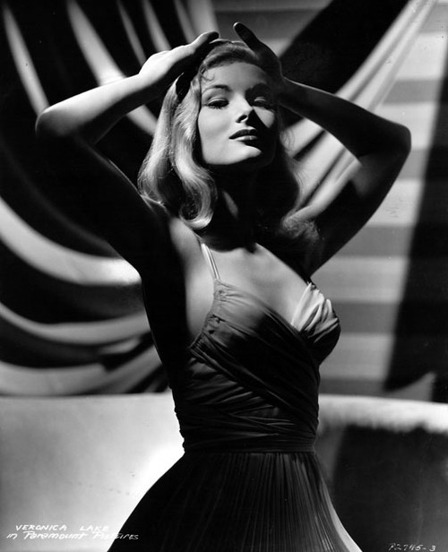 Evelyn Mchale Alive Veronica Lake Black and White